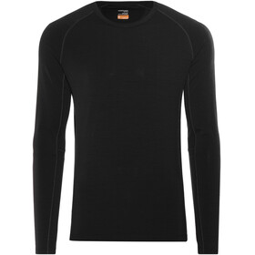 Icebreaker Zone LS Crewe Shirt Men black/monsoon